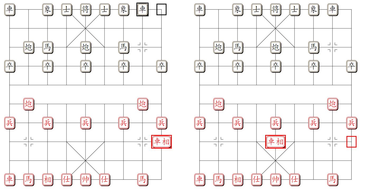 组易象棋-组合受限走动示意图