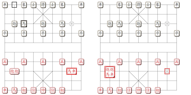 组易象棋-棋子组与棋子组-组合示意图