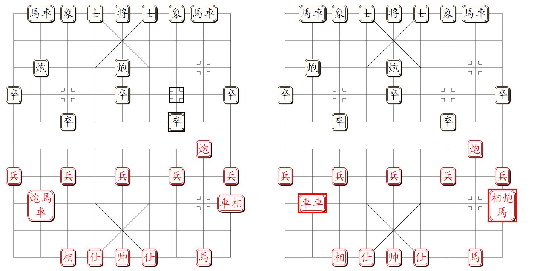 组易象棋-易位组合分离综合示意图